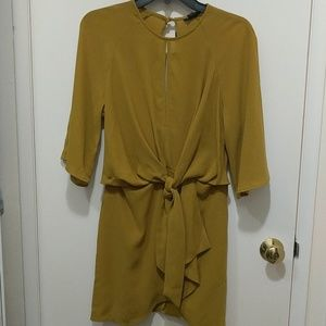 Topshop knot front mini dress